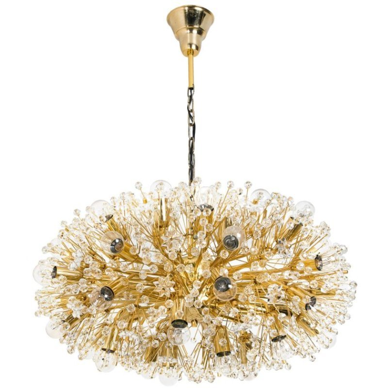 Large gold plated chandelier by emil stejnar for rupert nikoll large gold plated chandelier by emil stejnar for rupert nikoll 1960s mozeypictures Image collections