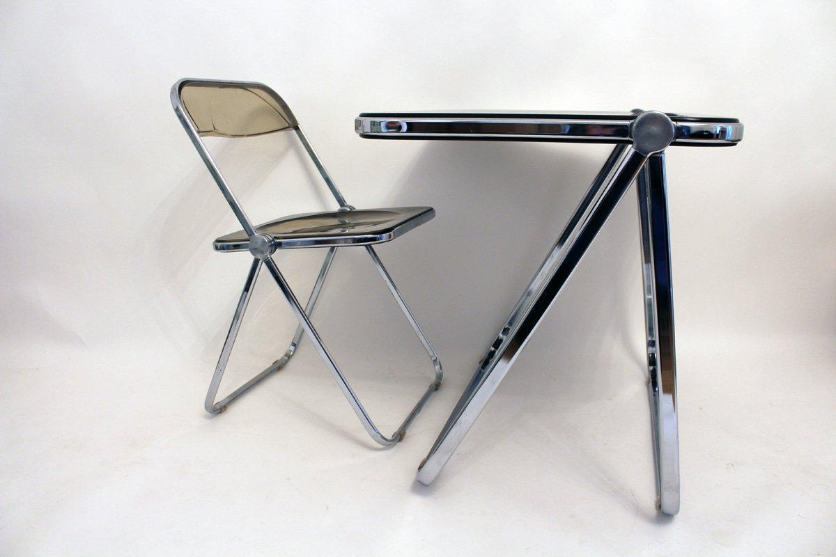 italienischer klapp schreibtisch mit stuhl von castelli. Black Bedroom Furniture Sets. Home Design Ideas