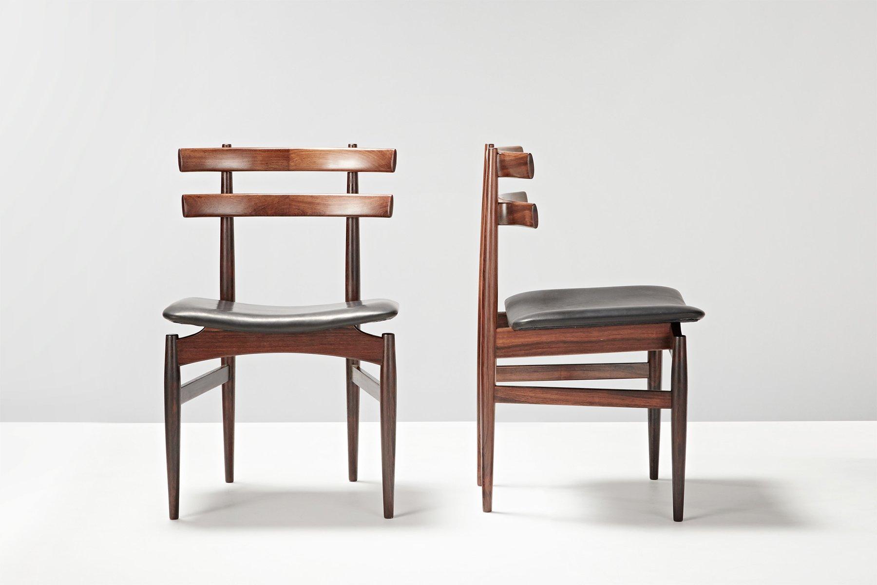 esszimmerst hle von poul hundevad 1958 6er set bei. Black Bedroom Furniture Sets. Home Design Ideas