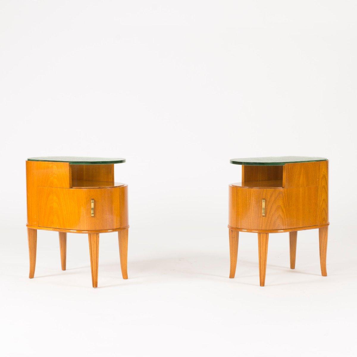 vintage mahagoni glas und beistelltische von axel larsson f r bodafors 2er set bei pamono kaufen. Black Bedroom Furniture Sets. Home Design Ideas