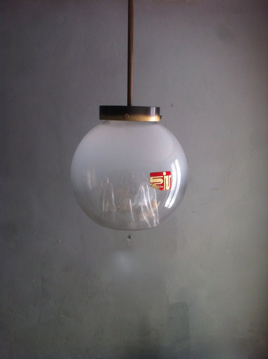 italienische vintage murano glaskugel h ngelampe von toni zuccheri f r venini bei pamono kaufen. Black Bedroom Furniture Sets. Home Design Ideas