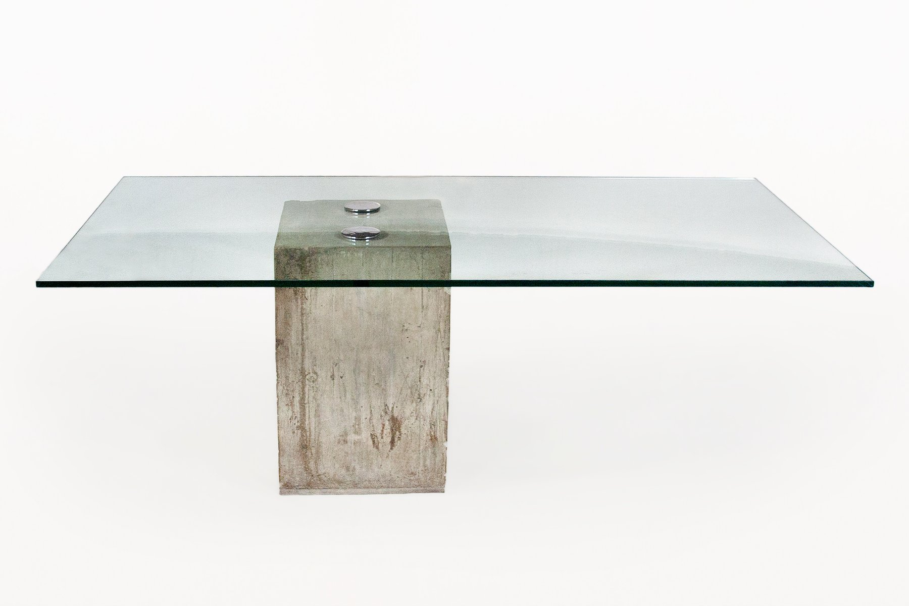 Glass And Concrete Dining Table By Sergio Amp Giorgio