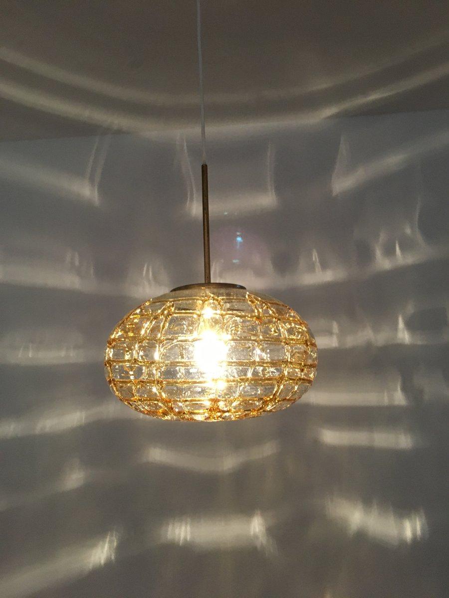mid century glaskugel h ngelampe von doria leuchten. Black Bedroom Furniture Sets. Home Design Ideas