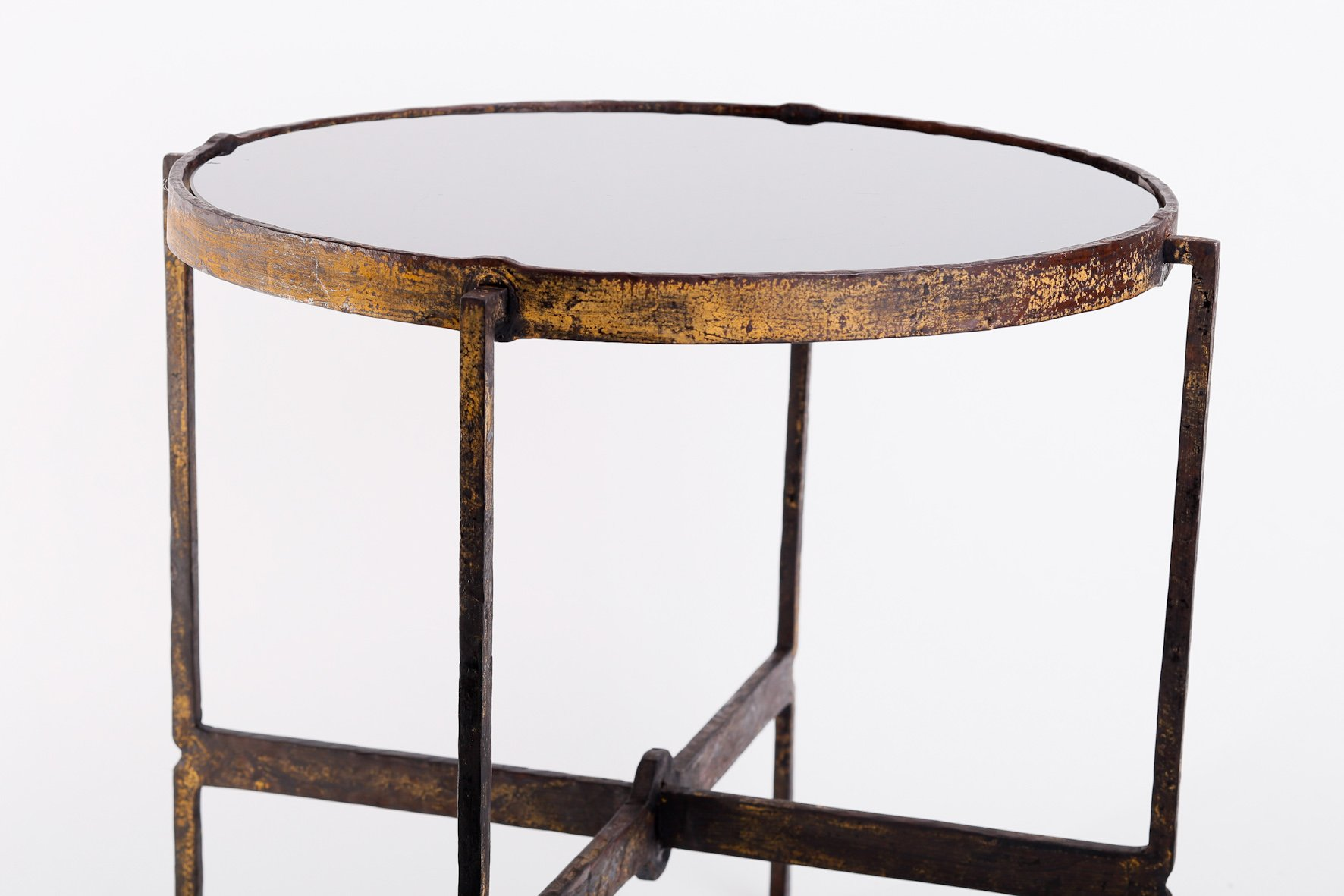 Hungarian wrought iron side table for sale at pamono for Wrought iron side table