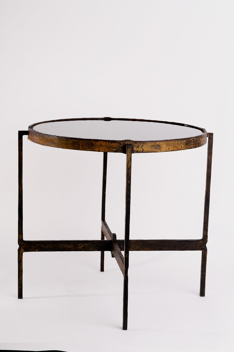 Iron Side Table ~ Hungarian wrought iron side table for sale at pamono