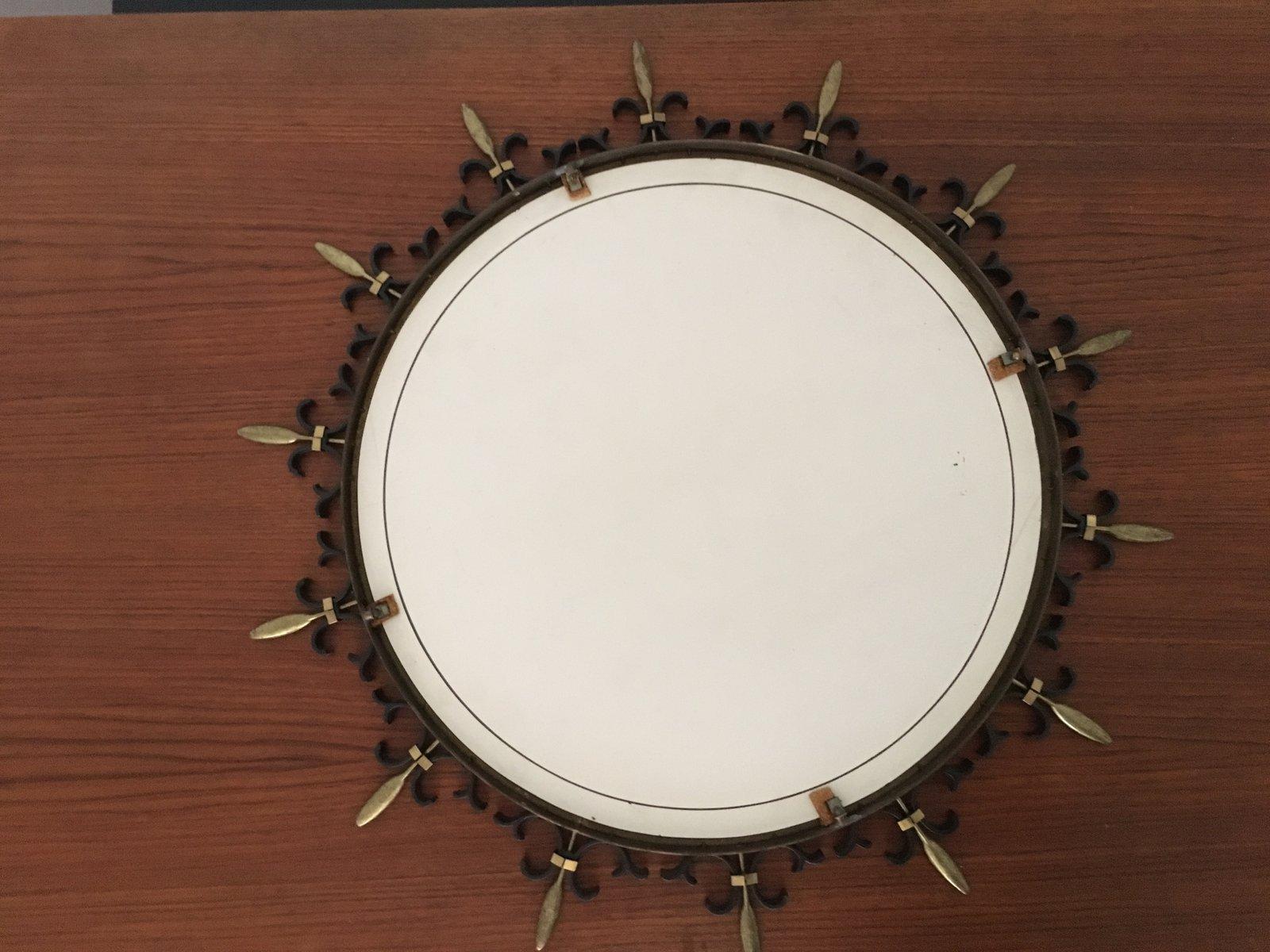 Specchio a forma di sole italia anni 39 50 in vendita su - Specchio anni 50 ...
