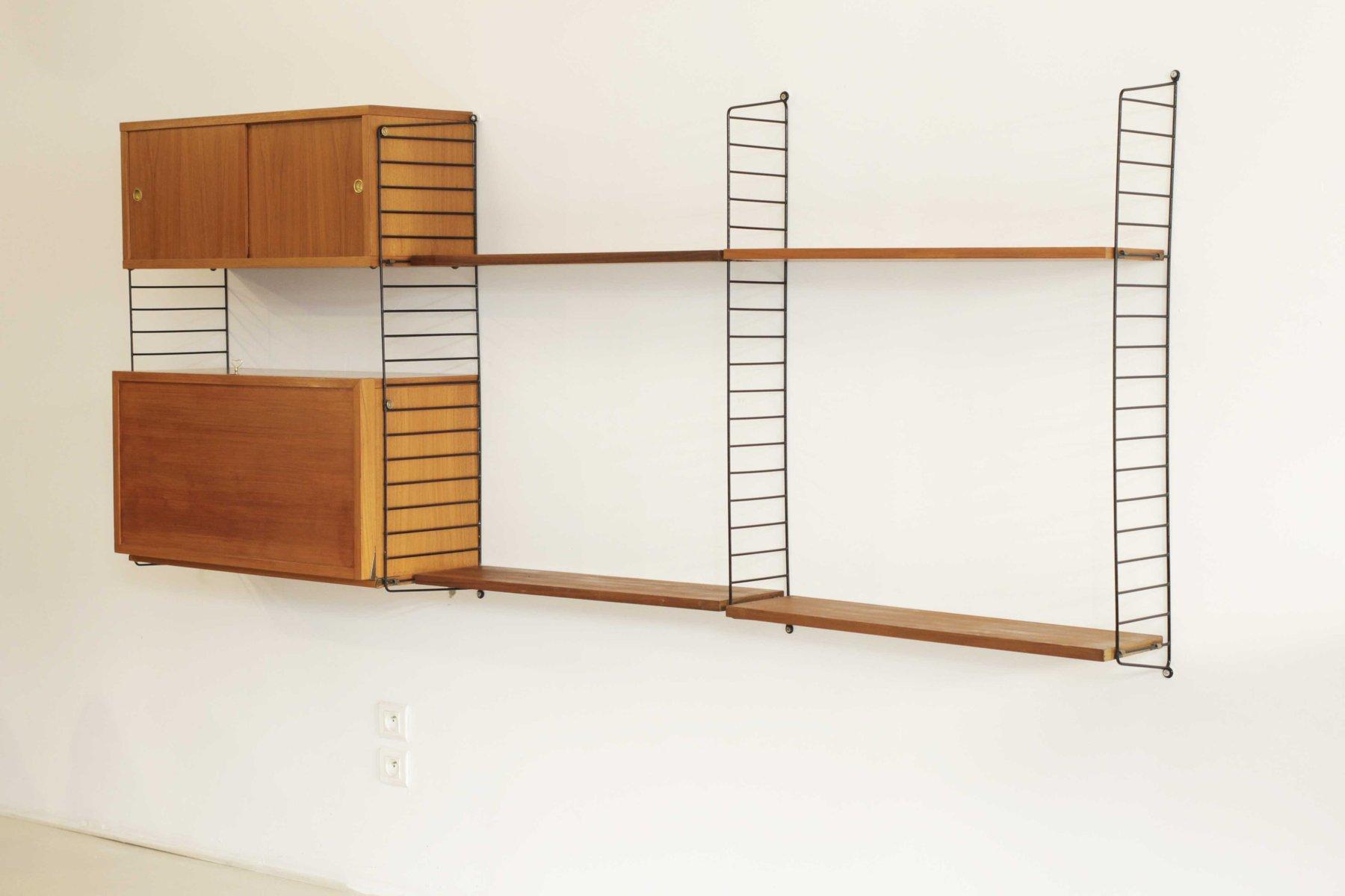 acd81bdaf007 Shelving Unit by Kajsa & Nils Strinning for String, 1950s for sale ...
