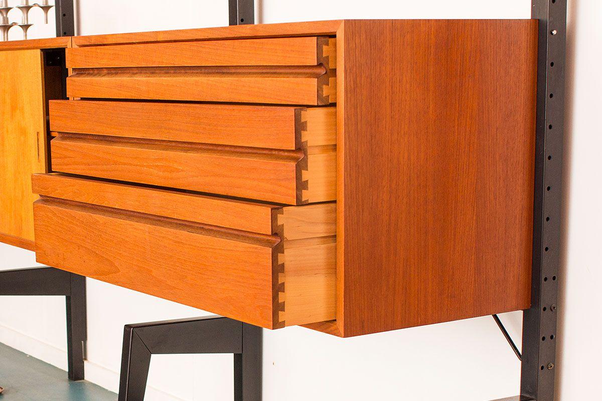 d nisches vintage regal mit wandhalterung von poul cadovius f r royal system bei pamono kaufen. Black Bedroom Furniture Sets. Home Design Ideas