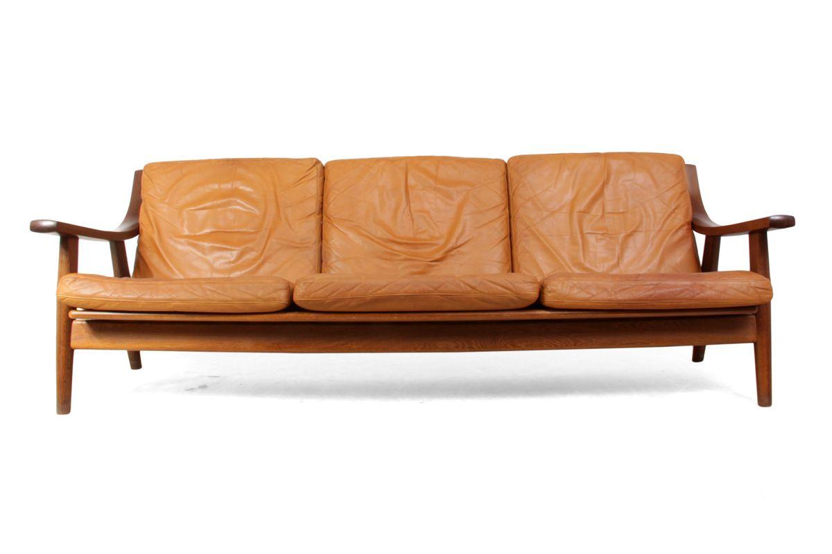 ge530 sofa by hans j wegner for getama 1970s for sale at pamono. Black Bedroom Furniture Sets. Home Design Ideas
