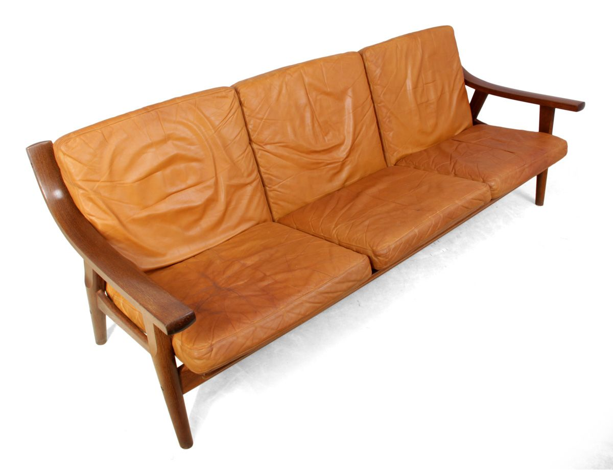 ge530 sofa by hans j wegner for getama 1970s for sale at pamono. Black Bedroom Furniture Sets. Home Design Ideas