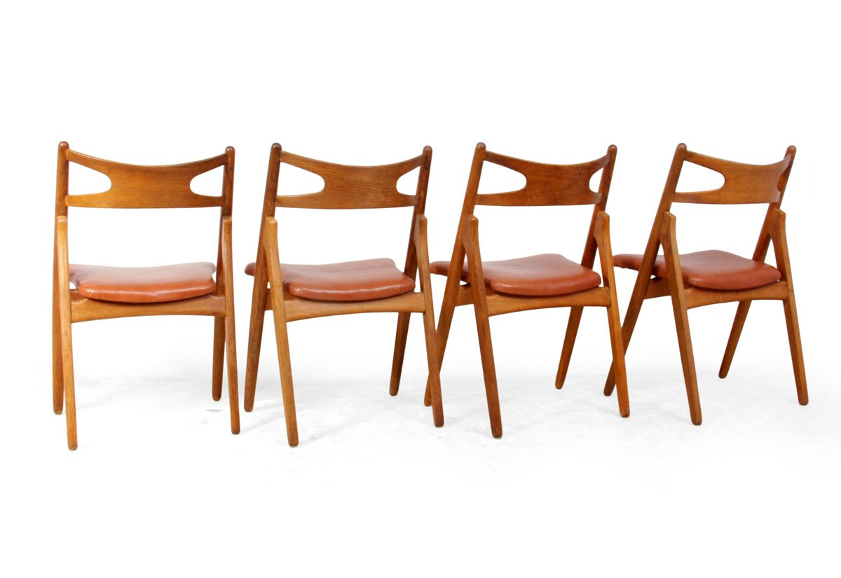 Oak Saw Back Chairs by Hans J Wegner for AL Johansen  : oak saw back chairs by hans j wegner for a l johansen son 1960s set of 4 4 from www.pamono.com size 1200 x 825 jpeg 134kB