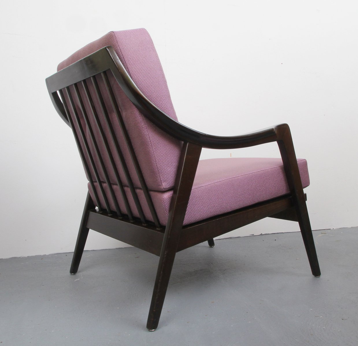 Armchair With Violet Cushions 1950s For Sale At Pamono