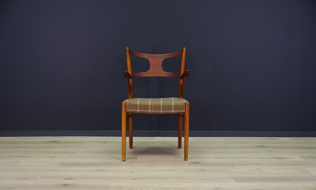 d nischer mid century stuhl aus teak bei pamono kaufen. Black Bedroom Furniture Sets. Home Design Ideas