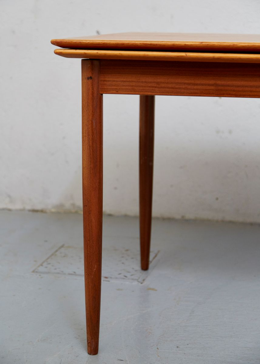 Mid century teak expandable dining table for sale at pamono for Expandable dining table