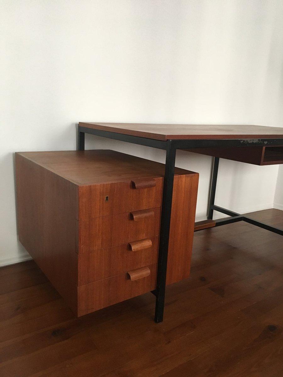 teak architekten schreibtisch von herbert hirche f r holz pfel 1950er bei pamono kaufen. Black Bedroom Furniture Sets. Home Design Ideas