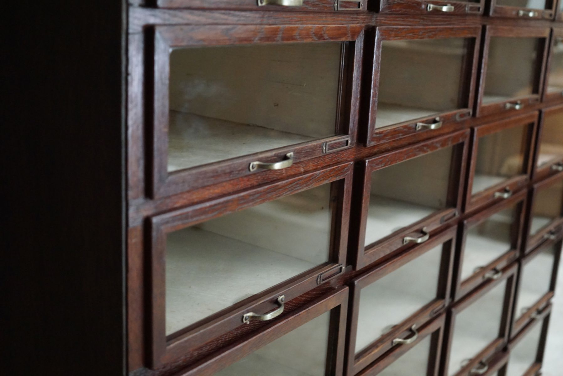 Oak haberdashery shop cabinet 1930s for sale at pamono for 1930s kitchen cabinets for sale