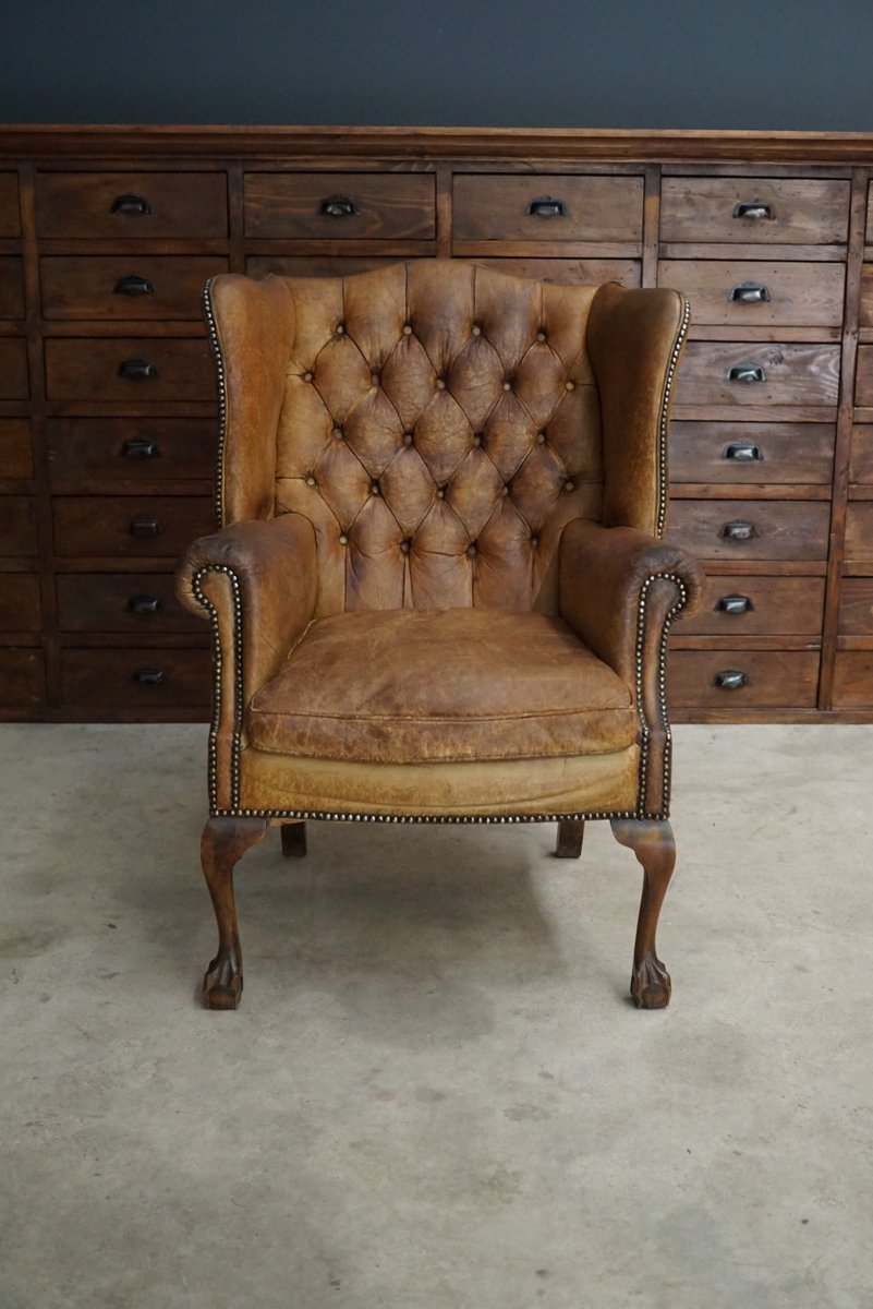 Vintage Cognac Leather Club Chair For Sale At Pamono