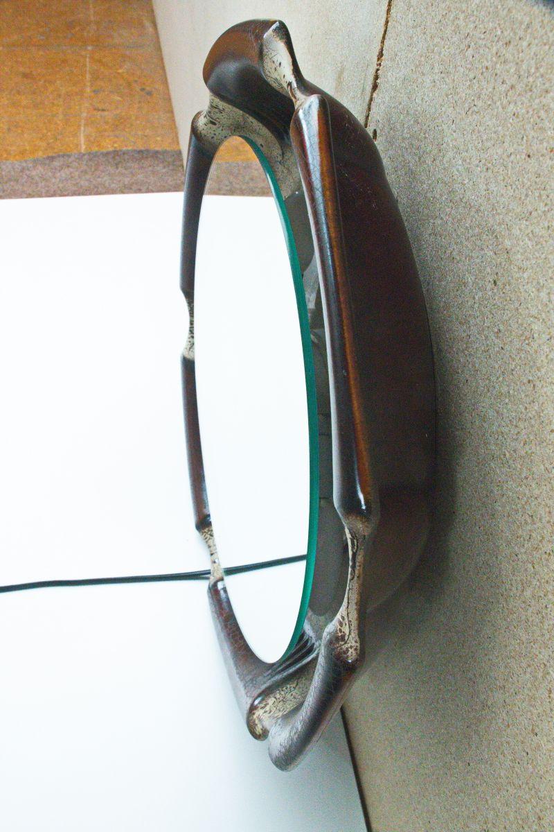 Runder deutscher beleuchteter wandspiegel 1960er bei for Spiegel deutsch