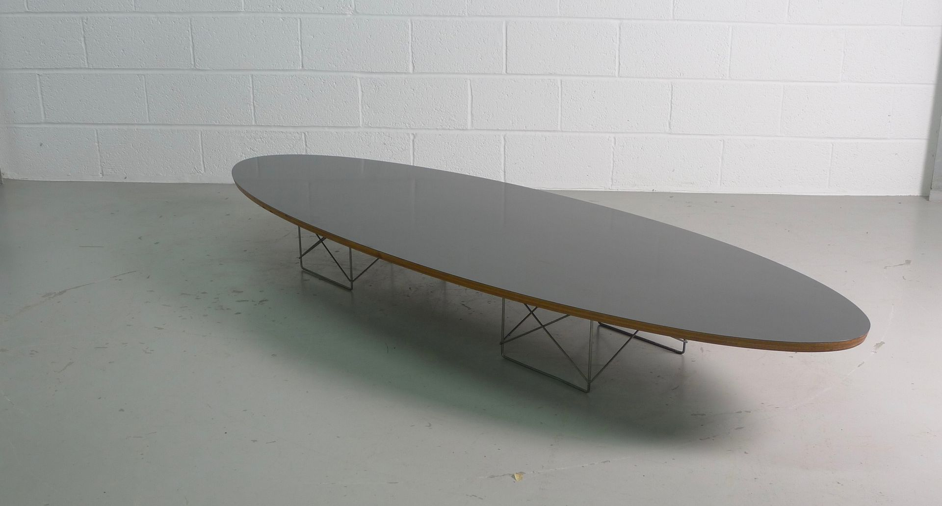 Vintage etr or surfboard table by charles ray eames for for Table charles eames
