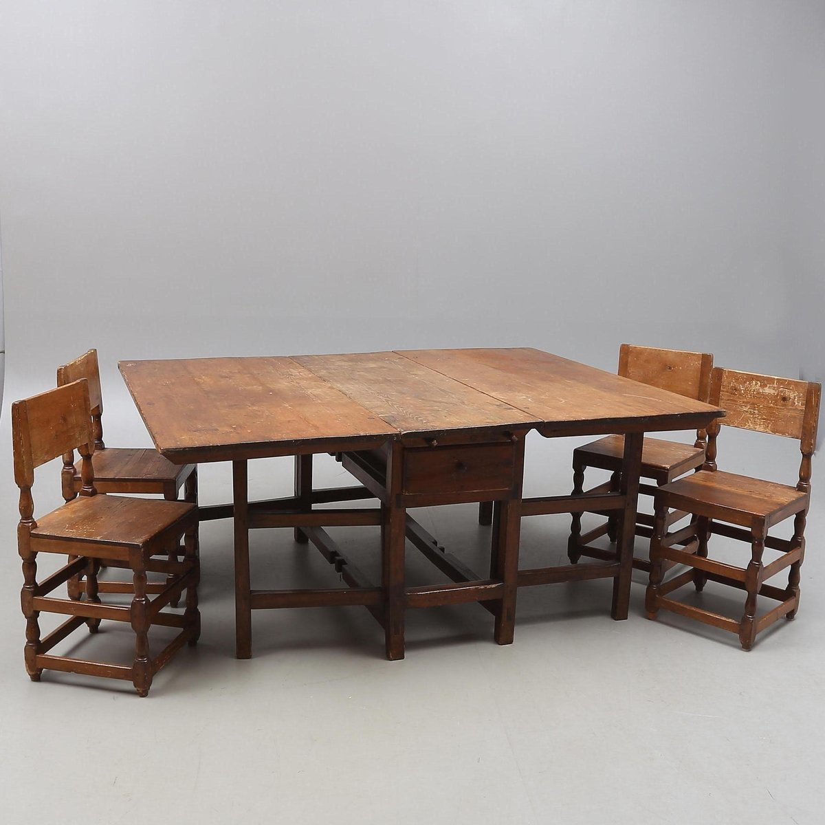 18th century dining set with table and four chairs for for Dinner table set for 4