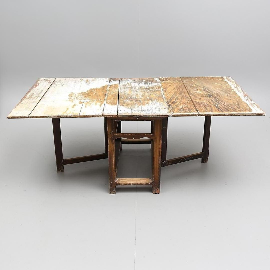 18th century swedish foldable table for sale at pamono for Table th visible
