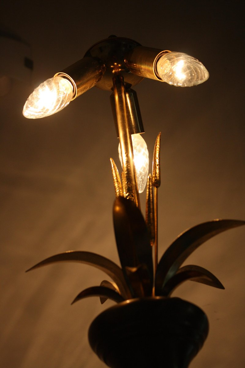 Brass floor lamp 1970s for sale at pamono for 1970s floor lamps