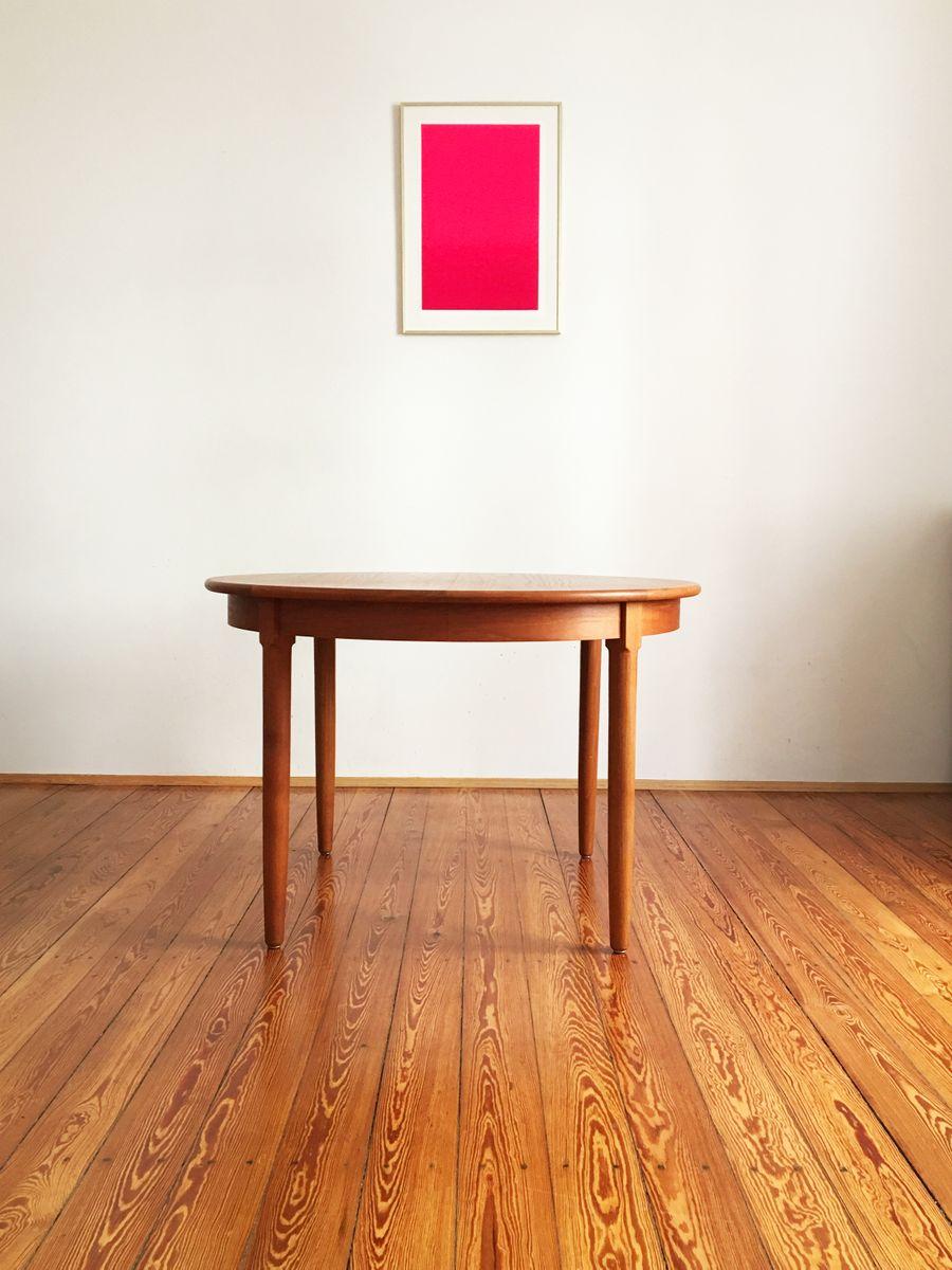 Round Danish Mid Century Teak Dining Table from Uldum for  : round danish mid century teak dining table from uldum 3 from www.pamono.com size 900 x 1200 jpeg 101kB