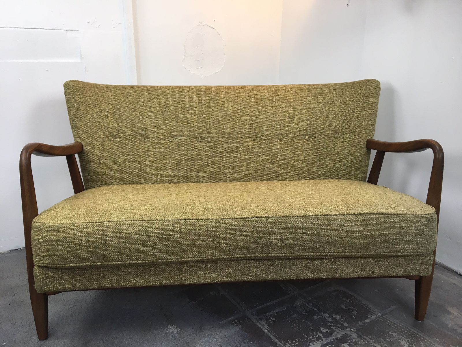 danish mid century modern two seater sofa 1950s - Mid Century Modern Furniture Of The 1950s