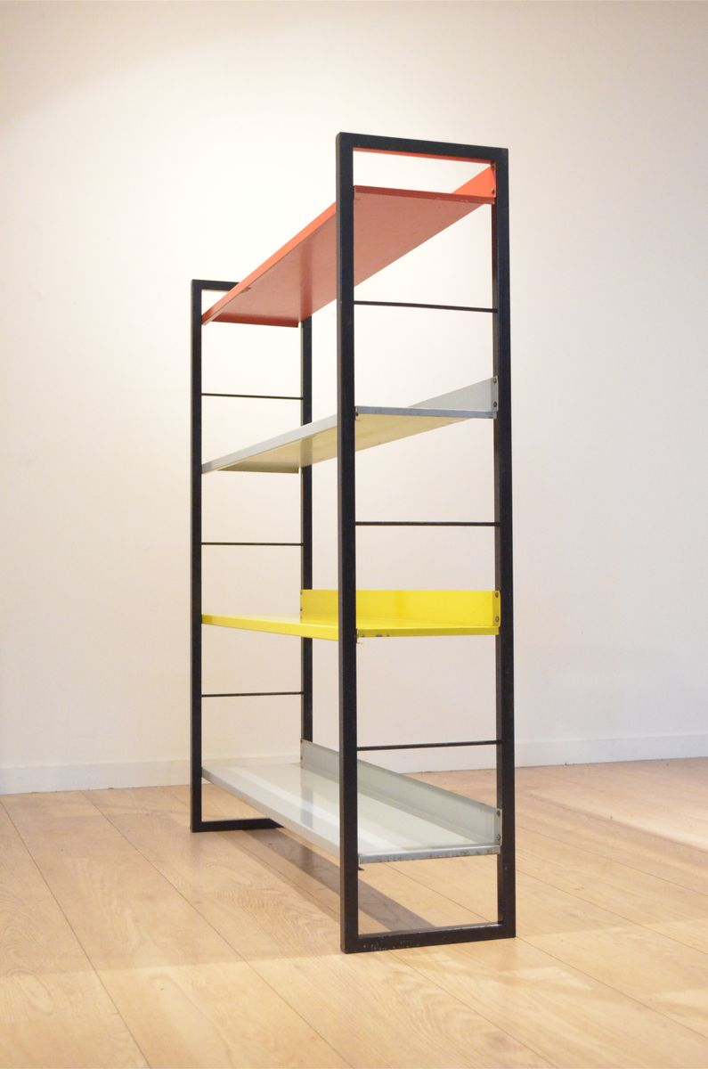 Free Standing Shelving Unit By A Dekker For Tomado 1950s