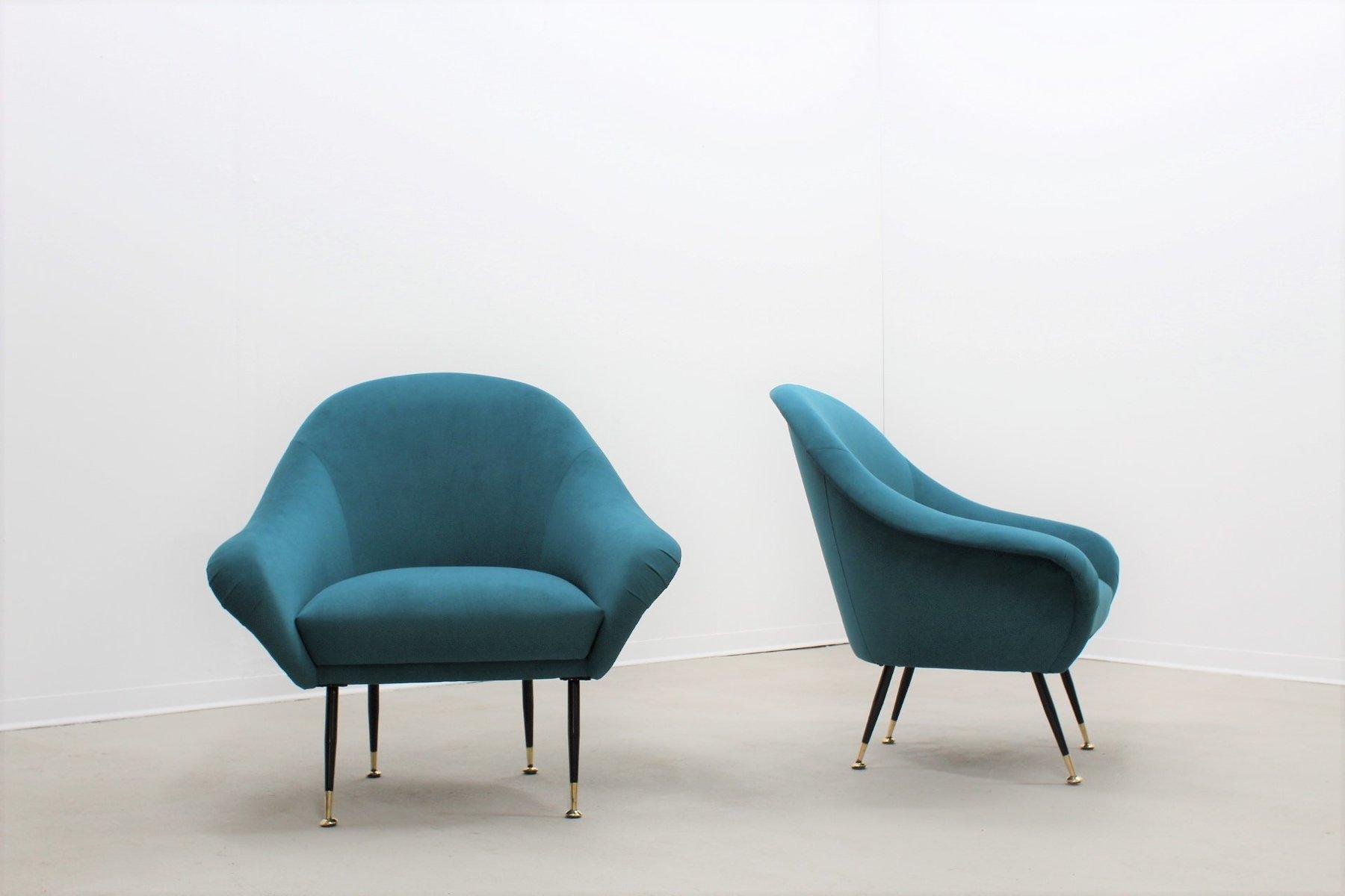 italienische mid century sessel von minotti 2er set bei. Black Bedroom Furniture Sets. Home Design Ideas