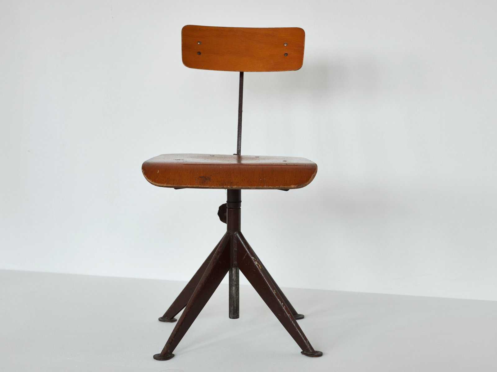 Vintage swivel work chair by jean prouve for sale at pamono - Table basse jean prouve ...