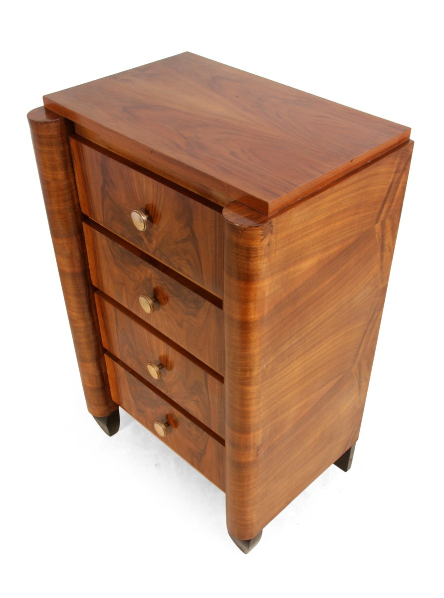 French art deco walnut chest of drawers 1930s for sale at for Meuble art deco 1930