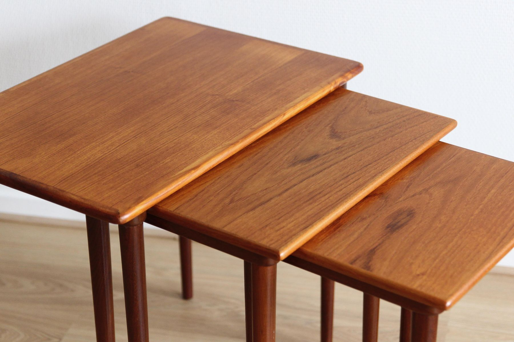 Vintage danish teak nesting tables for sale at pamono