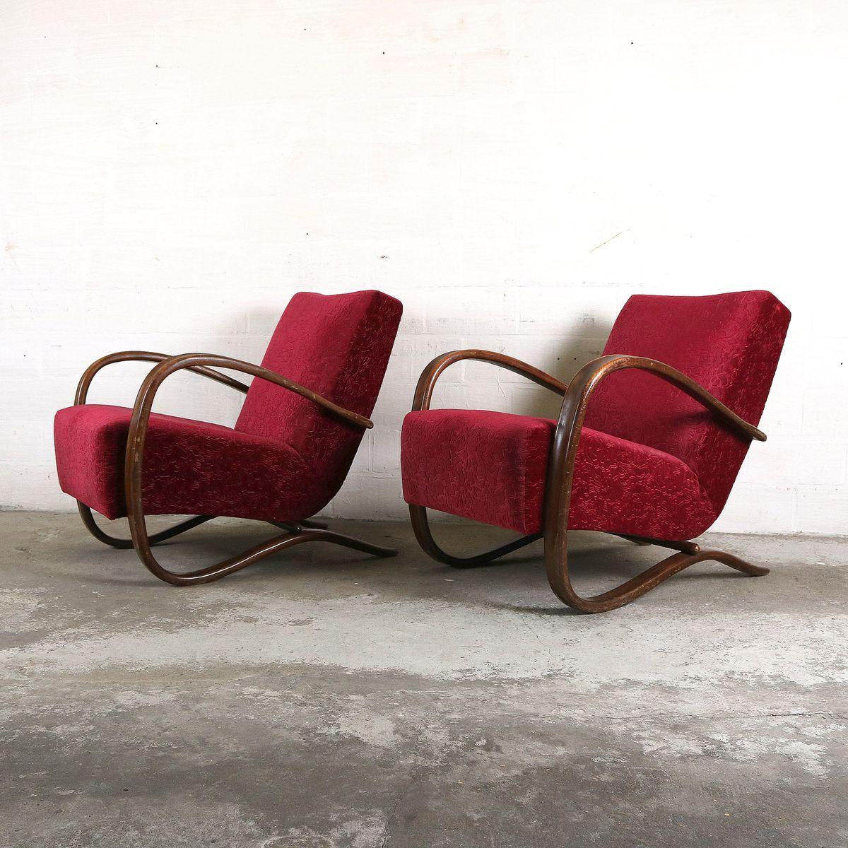 vintage st hle von jind ich halabala 2er set bei pamono. Black Bedroom Furniture Sets. Home Design Ideas