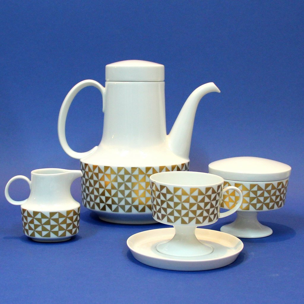 Vintage Porcelain Coffee Set From Rosenthal For Sale At Pamono