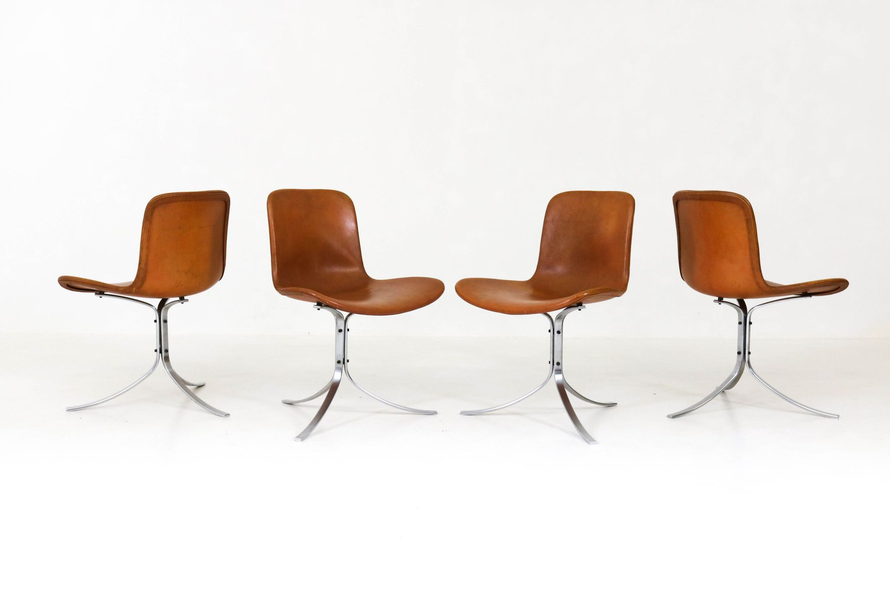 PK 9 Chairs by Poul Kjaerholm for E Kold Christensen 1960s Set
