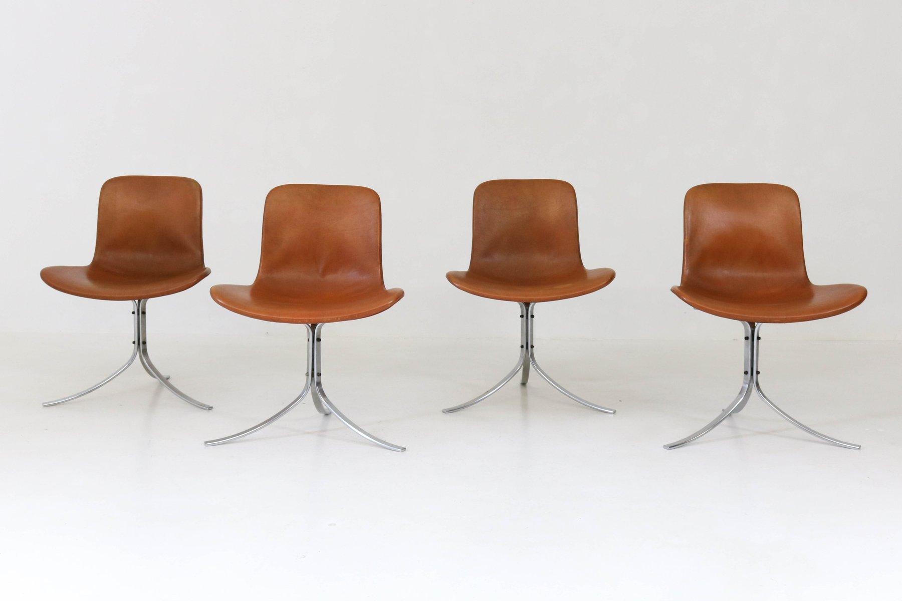 PK 9 Stühle von Poul Kjaerholm für E Kold Christensen, 1960er, 4er Set bei Pamono kaufen