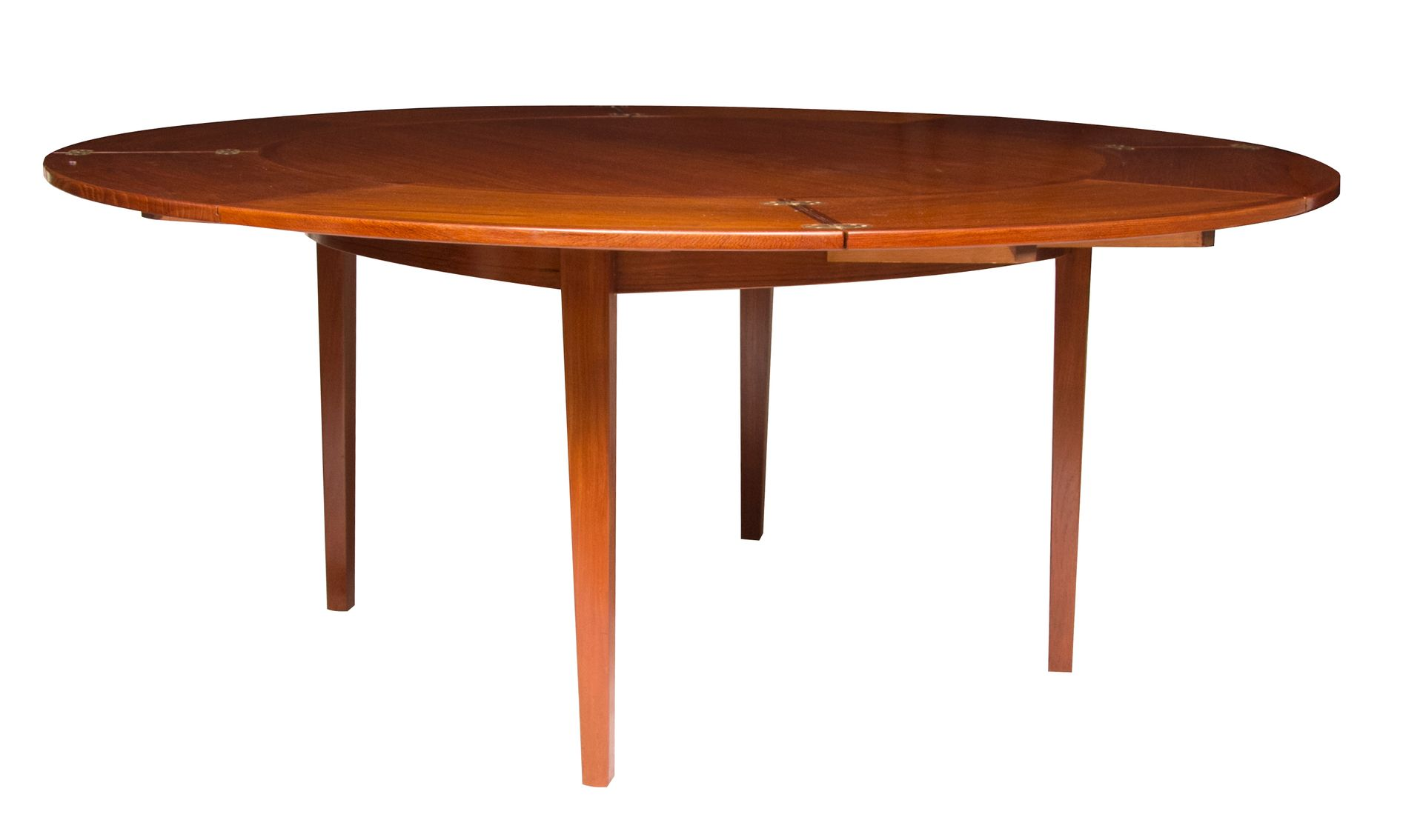 Teak flip flap dining table from dyrlund 1960s for sale for Dining table tj hughes