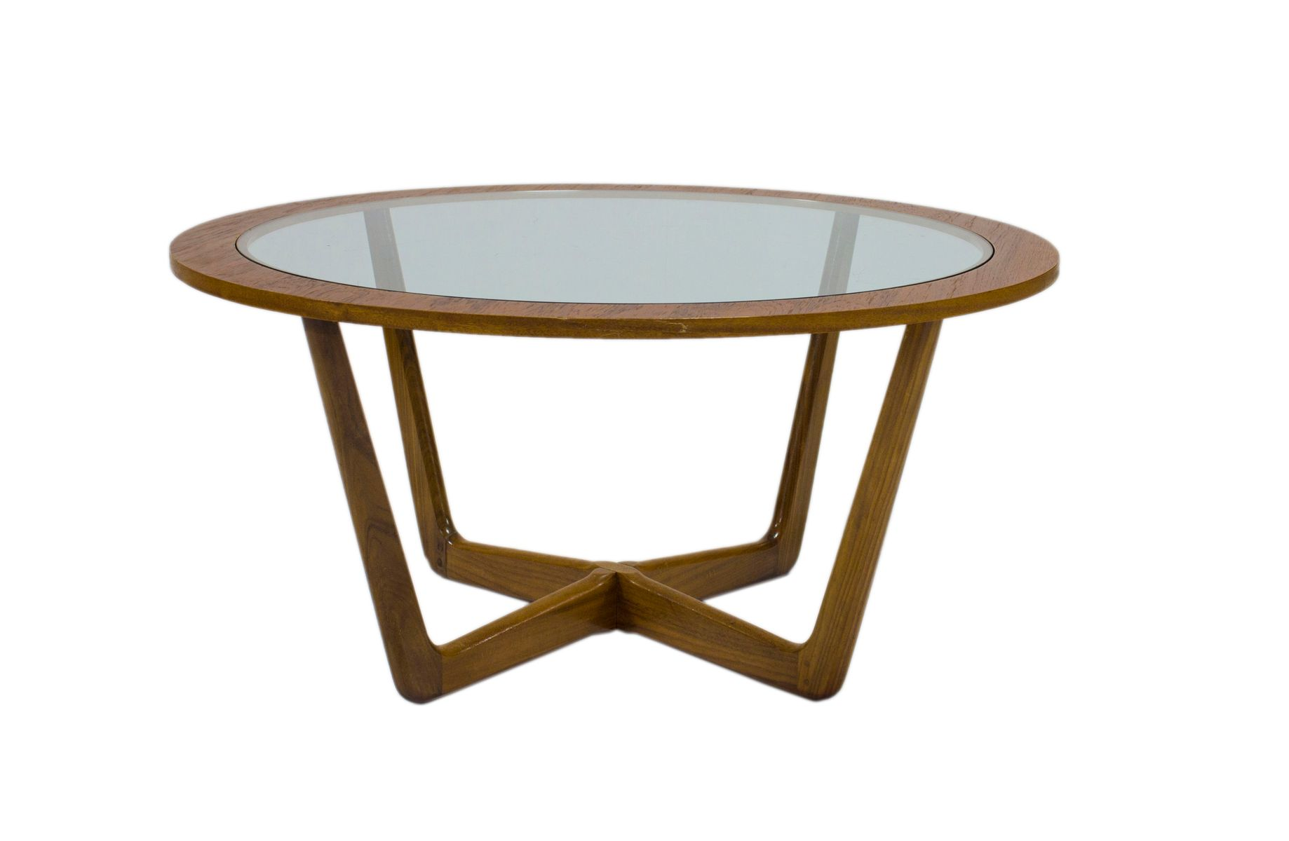 Mid Century Teak Circular Coffee Table from Beithcraft for sale at