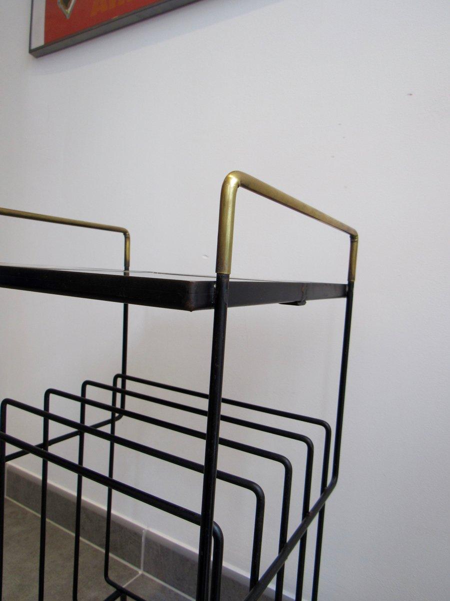 beistelltisch mit keramikplatte und ablage 1950er bei pamono kaufen. Black Bedroom Furniture Sets. Home Design Ideas
