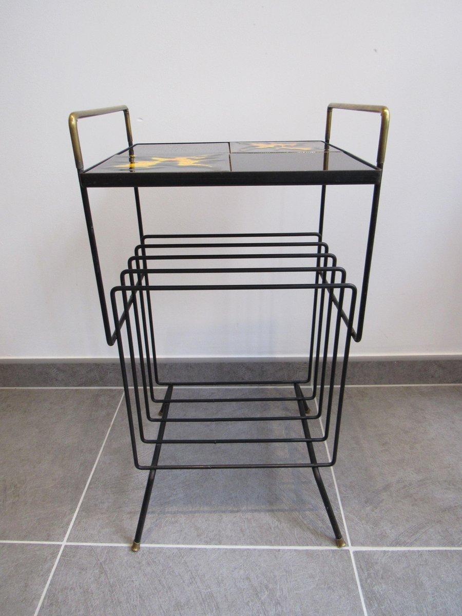 beistelltisch mit keramikplatte und ablage 1950er bei. Black Bedroom Furniture Sets. Home Design Ideas