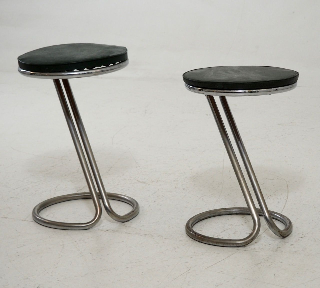 Vintage Art Deco Chromed Steel Piano Stools Set of 2 & Vintage Art Deco Chromed Steel Piano Stools Set of 2 for sale at ... islam-shia.org