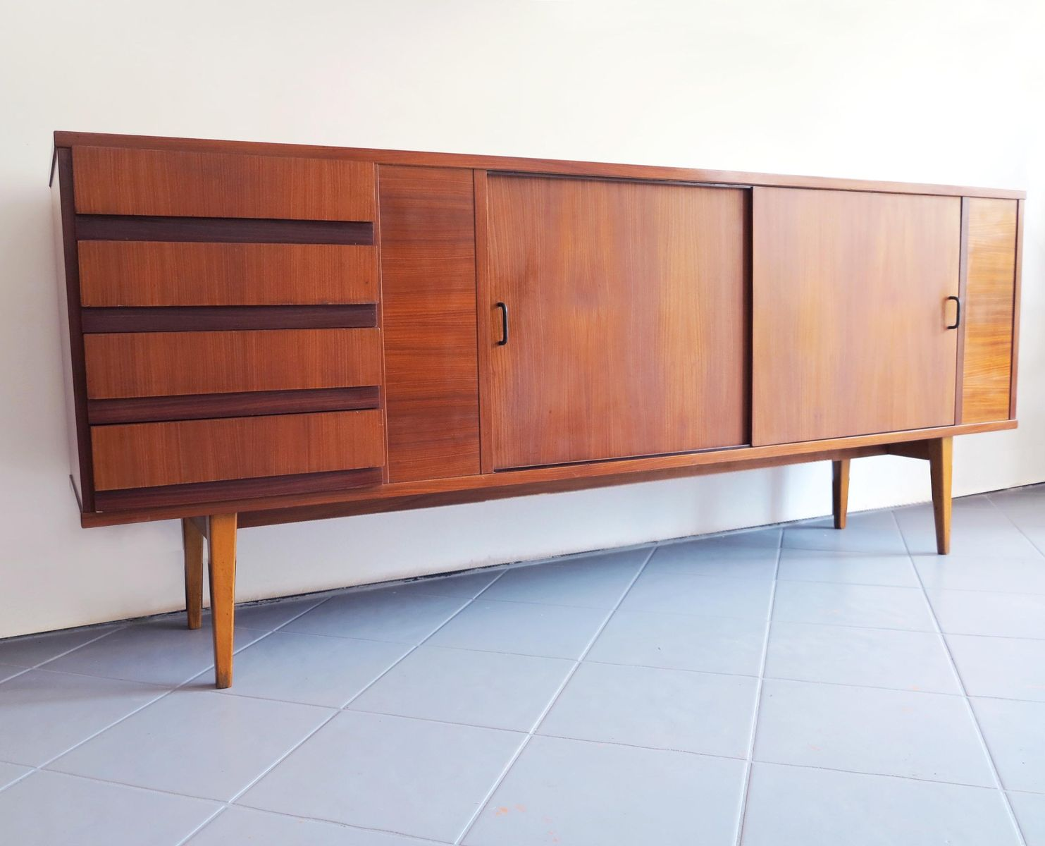 Italian rosewood veneer sideboard 1950s for sale at pamono for 1950 s credenza