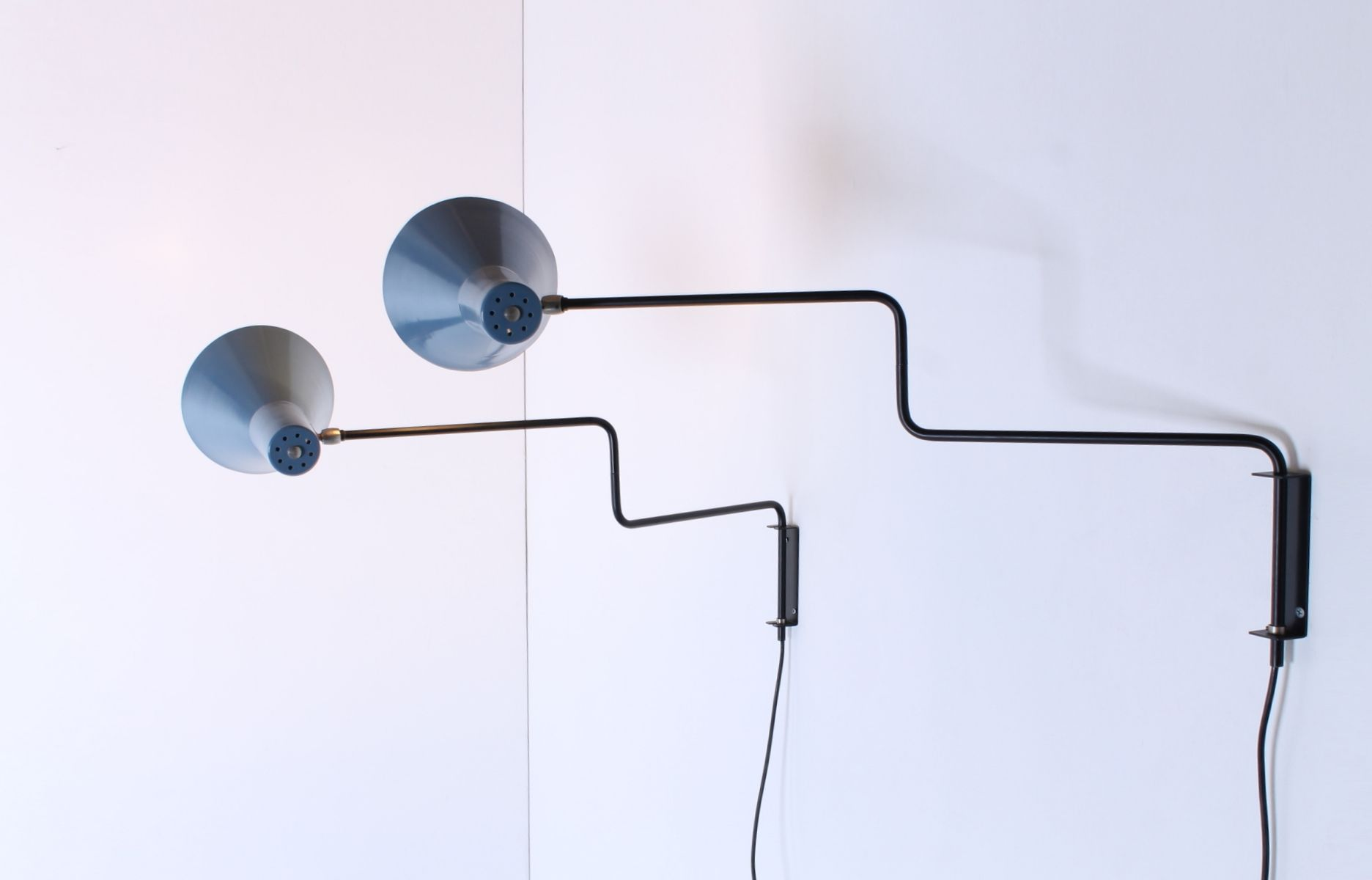 Vintage Paperclip Elbow Wall Lights by J. J. M. Hoogervorst for Anvia, Set of 2 for sale at Pamono