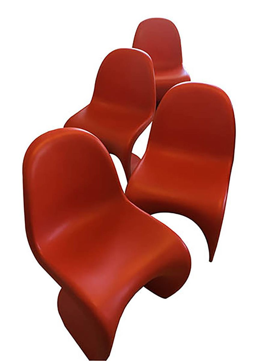 Amazing Vintage Panton Chairs By Verner Panton For Vitra, Set Of 4