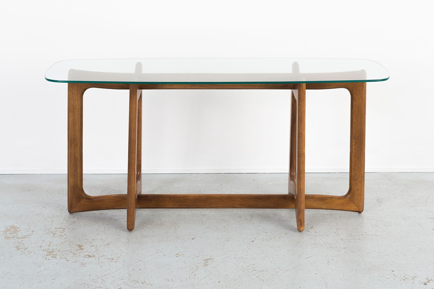 Mid century console table by adrian pearsall for craft for Sofa table rules