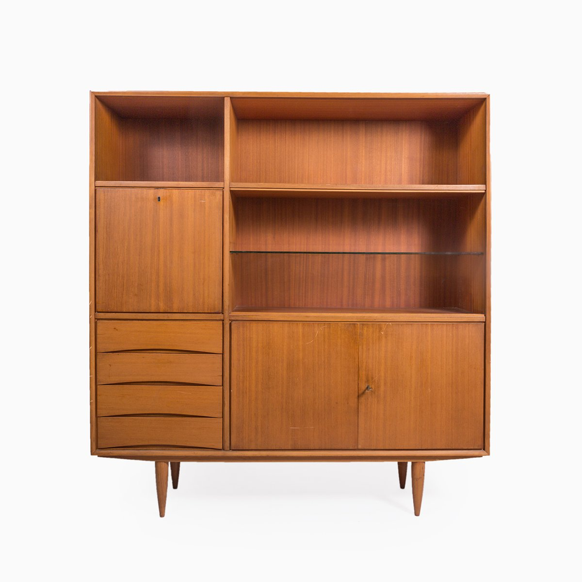 Vintage wooden cabinet with drawers for sale at pamono for Kitchen drawers for sale