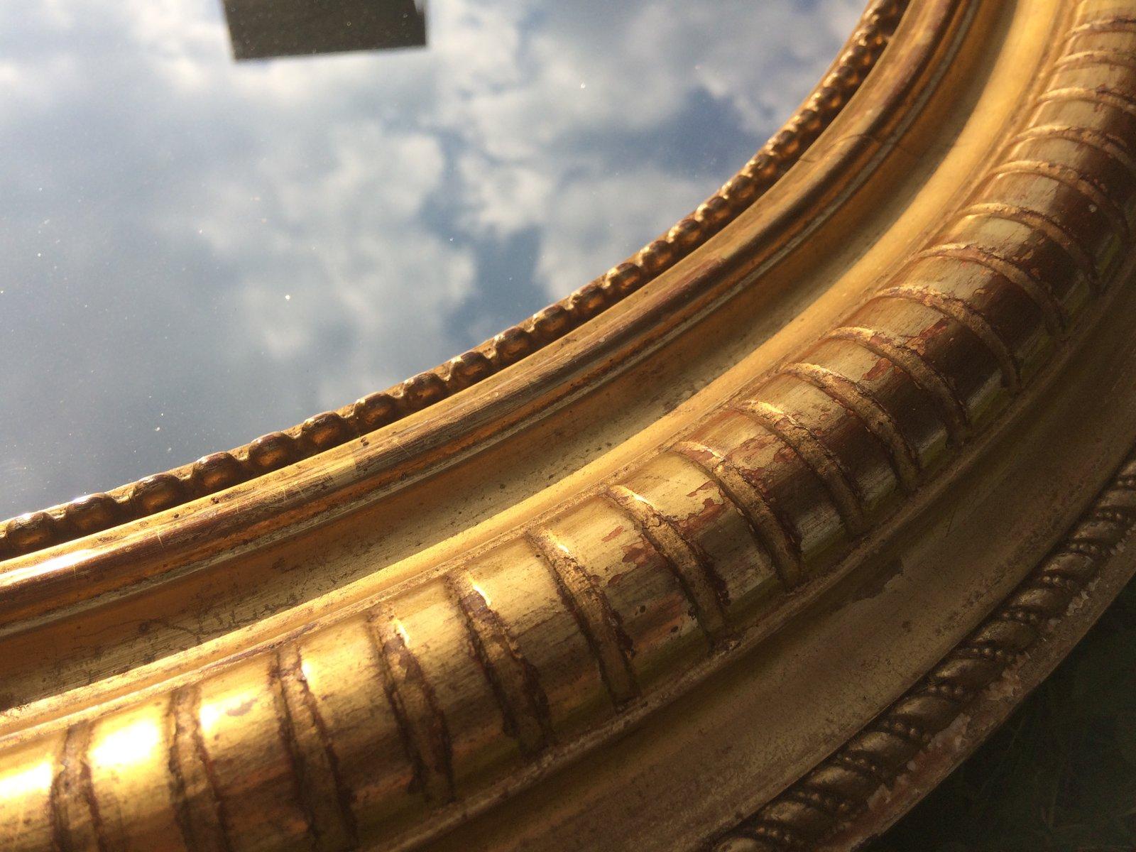 Specchio napoleone iii antico dorato in vendita su pamono - Specchio dorato antico ...