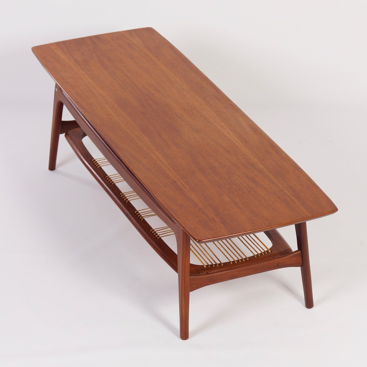 Teak Burger Coffee Table: Teak Coffee Table By Louis Van Teeffelen For Wébé, 1960s