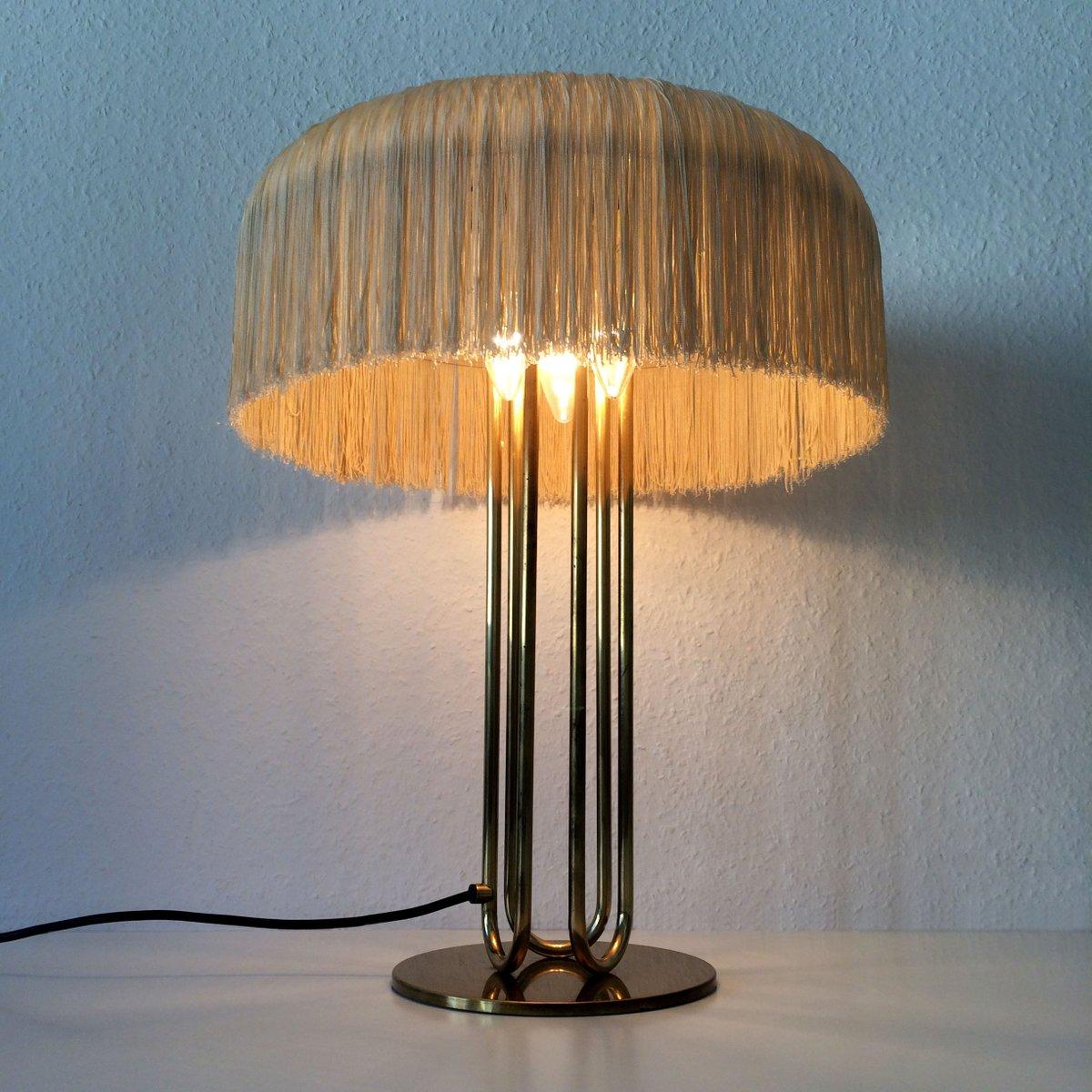 lampade da tavolo mid century grande in ottone set di 2